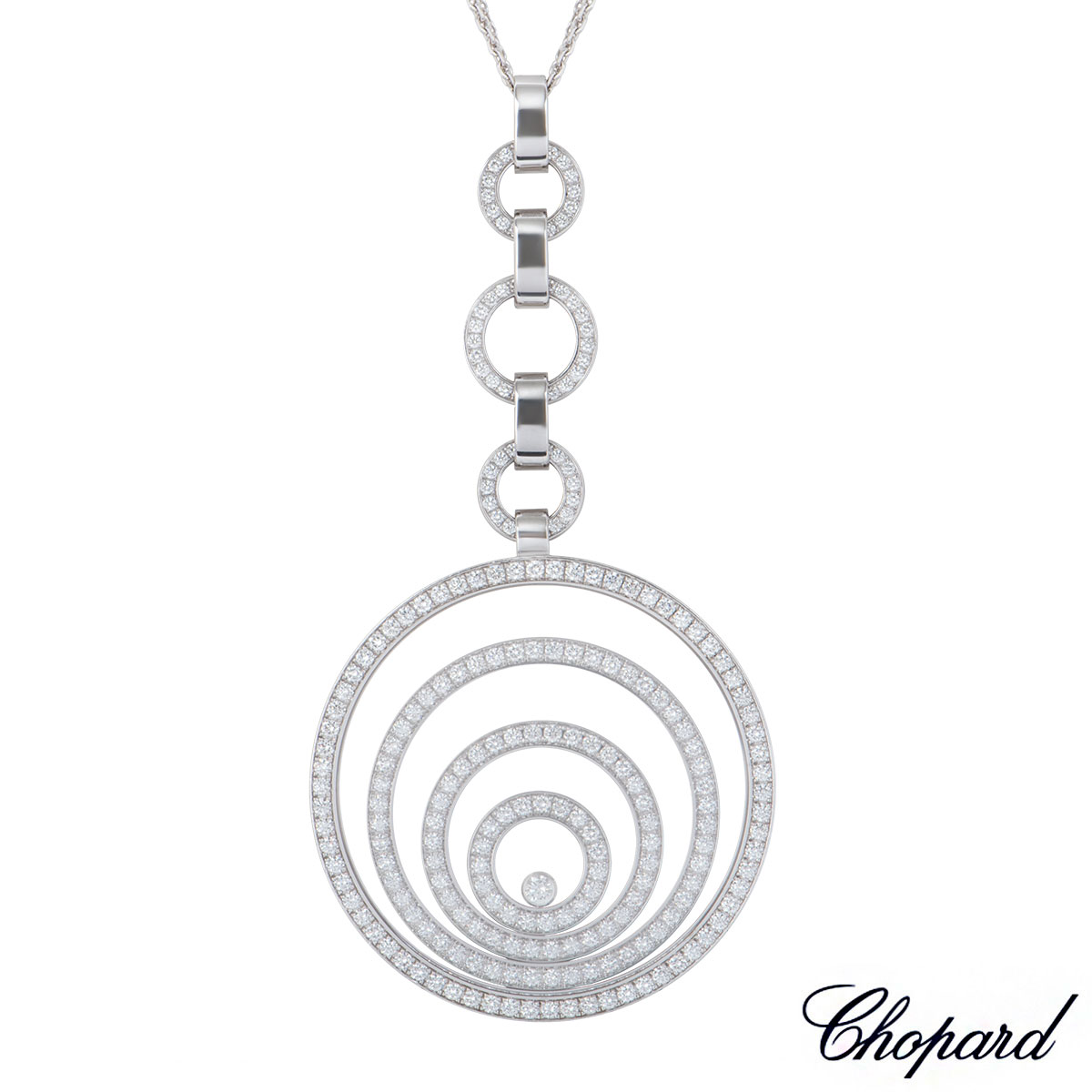 Chopard White Gold Diamond Happy Spirit Necklace 796135-1001